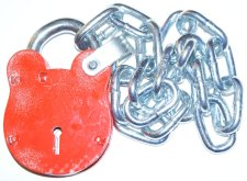 Radar Key Co. Padlock with Chain